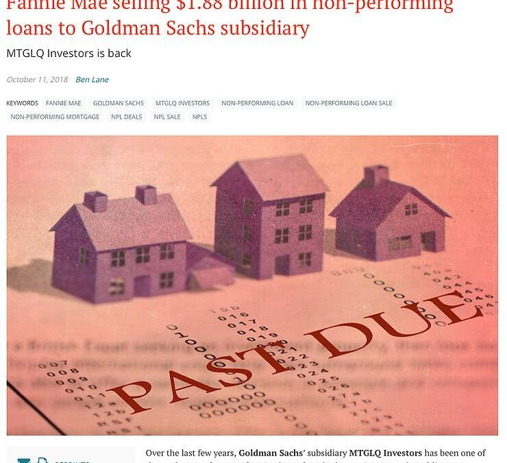 Why is Goldman Sachs a Top Non-performing Loan Buyer?