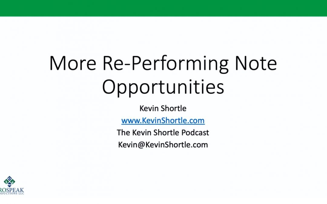 More Re-Performing Not Opportunities