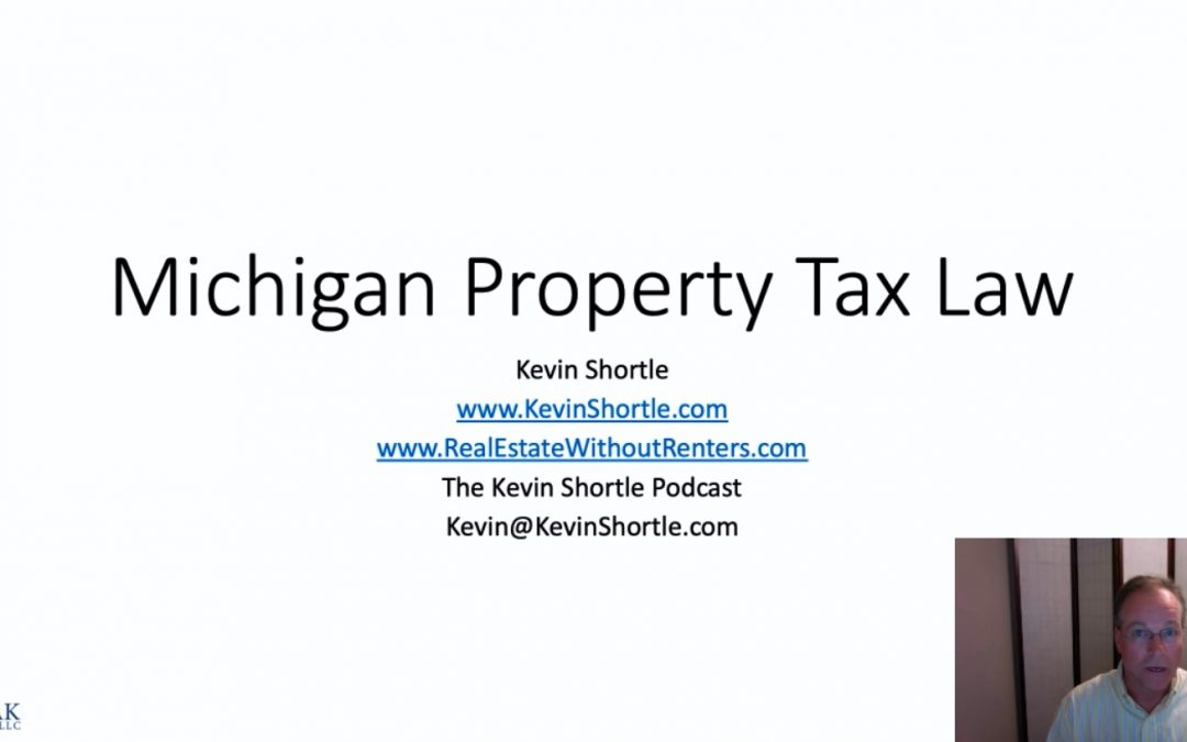 Michigan Property Tax Law